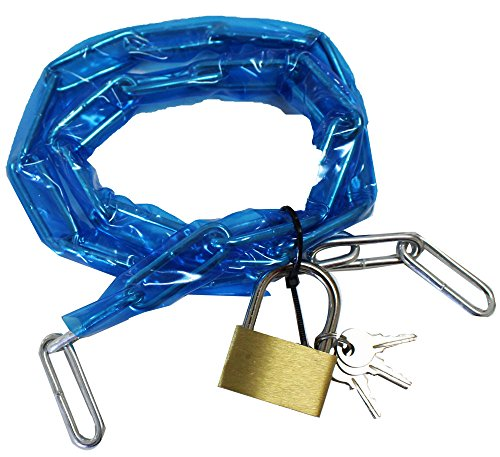 PVC Plastic Covered 36 Inch Chain With Brass Padlock