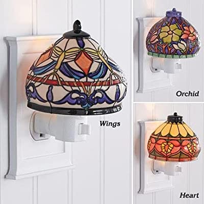 Tiffany Style Wings Night Lamps