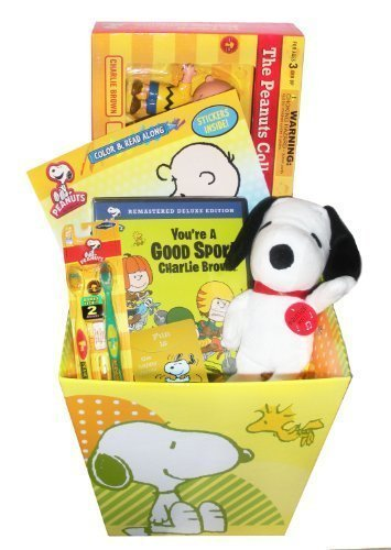 Ultimate Peanuts Gift Basket featuring Snoopy & the Gang, NJCroce Charlie Brown and The Peanuts Bendable Figures Set - by Artistix Designs Gift Baskets