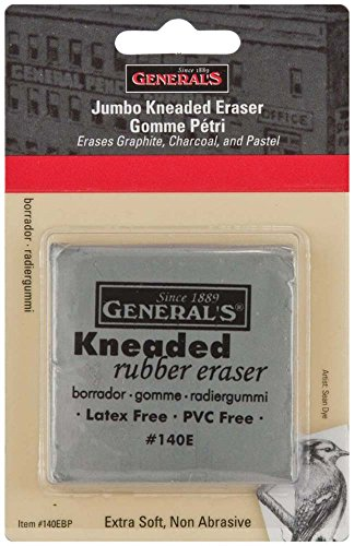 Generals Eraser - General Pencil Jumbo Grey Kneaded Eraser, Multicolor