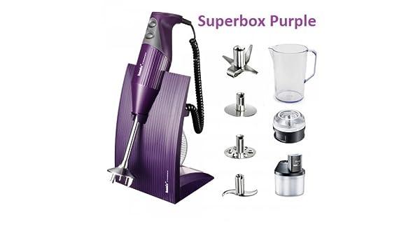 Bamix SuperBox Purple - Confezione Regalo con Accessori: Amazon.es: Hogar