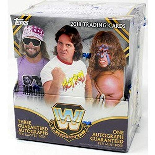 2018 Topps WWE Legends Wrestling box (12 pk, THREE Autograph cards + ONE extra hit)