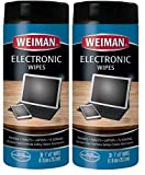 electron wipes - Weiman Electronic Cleaner Wipes - Non Toxic Safely Clean Your Laptop, Computer, TV, Screen All Electronic Equipment - Electronic Wipes - 30 Count (2 Pack)