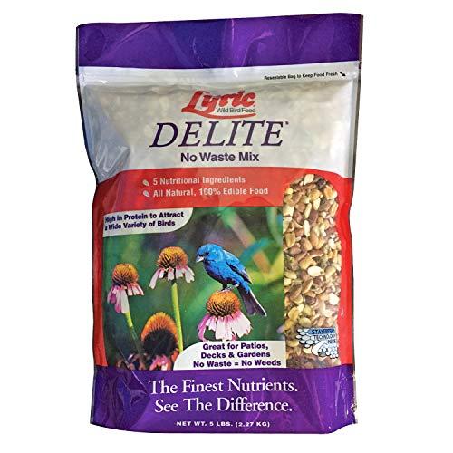 Lyric 2647403 Delite High Protein No Waste Wild Bird Mix-5 lb