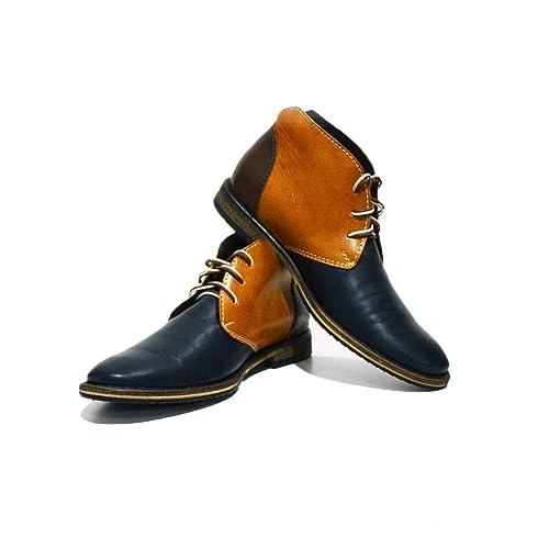 3887cac7e Modello Bergamo - Cuero Italiano Hecho A Mano Hombre Piel Vistoso Chukka  Botas Botines - Cuero Cuero Suave - Encaje  Amazon.es  Zapatos y  complementos