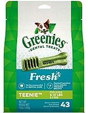 CANINE GREENIES Fresh TEENIE Natural Dental Dog Treats, (43 Treats) 12oz. Pack