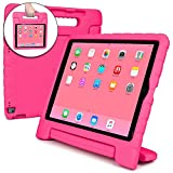 Cooper Dynamo Shock Proof Kids case Compatible iPad Pro 12.9 | Heavy Duty Kidproof Cover Kids | Girls, Boys, School | Kid Friendly Handle & Stand, Screen Protector | Apple A1584 A1652 (Pink)