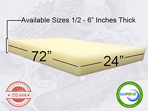 """1/2"""" X 24""""x 72"""" Dry Fast Reticulated Foam Sheets"""