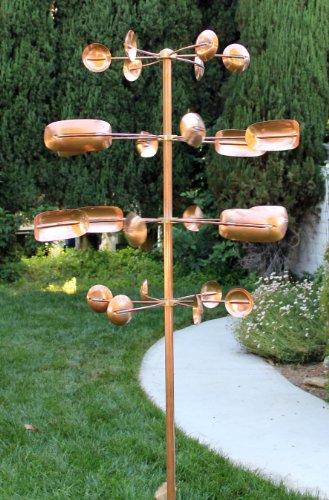 Copper Kinetic Wind Sculpture, Quaking Aspen