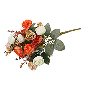 WINOMO Vintage Artificial Rose Flowers Bouquet for Valentine's Day Wedding Home Party 112