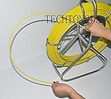 Fish Tape Fiberglass Reel Wire Cable Running Rod Duct Rodder Fishtape Puller 6mm