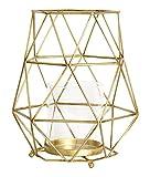 Magari Furniture Geometric Candleholder Large Rustic Gold