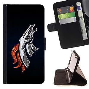 - cool metal silver horse robot fire - - Prima caja de la PU billetera de cuero con ranuras para tarjetas, efectivo desmontable correa para l Funny HouseFOR LG G3