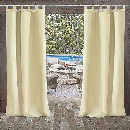 Domdil - Cortina para exterior con cierre de velcro, para jardín, balcón, cortinas opacas, resistente al agua, resistente a la harina, para cenador o playa, 1 unidad (132 x 215 cm), 6 Pack: Amazon.es: Jardín