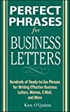 img - for Perfect Phrases for Business Letters (Perfect Phrases Series) book / textbook / text book
