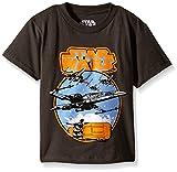 Star Wars Little Boys' T-Shirt, Circle Ship Charcoal, 4