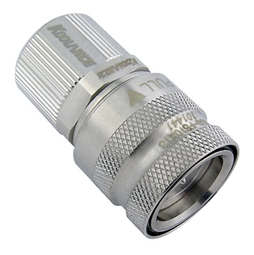 Koolance QD3-FS10X13 QD3 Female Quick Disconnect No-Spill Coupling, Compression for 10mm x 13mm (3/8in x 1/2in)