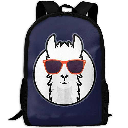 Travel Backpack Laptop Backpack Large Diaper Bag - Cool Llama With Sunglass Backpack School Backpack For Women & Men by SAPLA