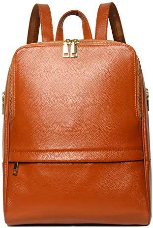 Coolcy Hot Style Women Real Genuine Leather Backpack Fashion Bag Dark Brown