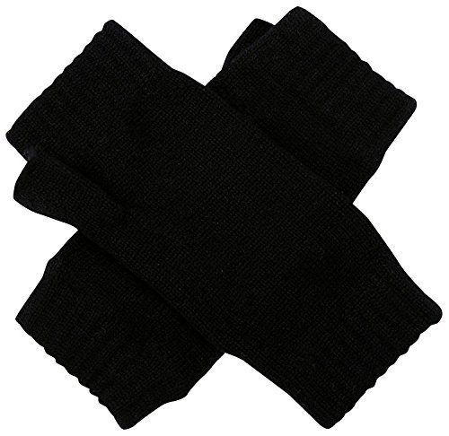 Cashmere Sock House – Scotland Women's Scottish Wrist Warmers Gloves One Size Black