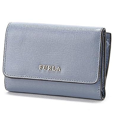 b15d89182a89 Amazon | フルラ(FURLA) バビロン Sトリフォールドウォレット【グレイッシュブルー/**】 | Furla(フルラ) | 財布