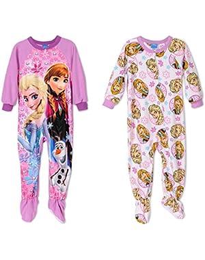 Frozen 2 Onesies Fleece Girls Pajamas, Toddler