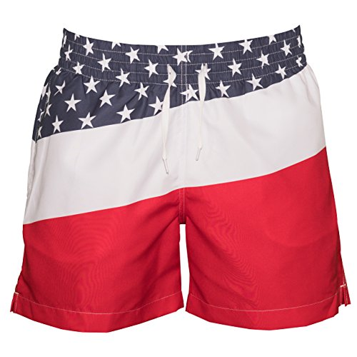 99861e9ea5 Meripex Apparel Men's Patriotic American Flag Swim Trunks: The Old Glory's (Cheaper  Than Chubbies) - Buy Online in Oman. | Apparel Products in Oman - See ...