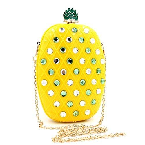 Acrylic Handbag Vintage Shiratori shaped Clutch Bags Women Pineapple Banquet Evening Purses TSBwS5vxq