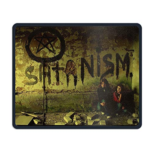- Dark Occult Satanic Cult Mouse Pad Printed Non-Slip Rubber Gaming Mouse Pad Mat for Laptop Computer - 7.08(L)x 8.66(W) inch