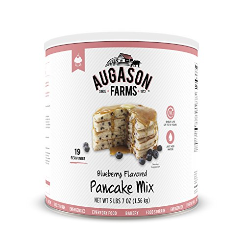 Augason Farms Blueberry Pancake Mix 3 lbs 7 oz No. 10 Can ()