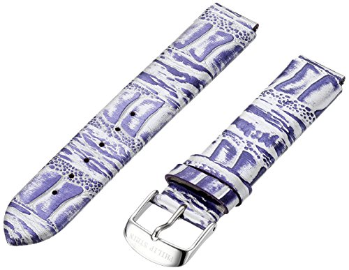 Philip Stein 1-COPRS 18mm Leather Calfskin Purple Watch Strap