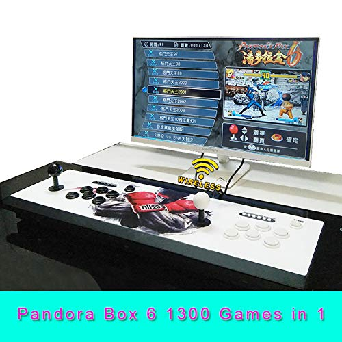 TRA Wireless Arcade Video Game Machine 1300 in 1 Retro Games Pandora's Box 6 Neo Geo SNK King of Fighters Emulators Console 1280x720 Full HD 2 Player PC/PS Joystick Support Extension 3D Game