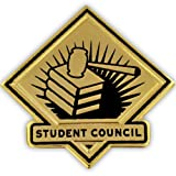 PinMart's Black and Gold Student Council School Teacher Lapel Pin