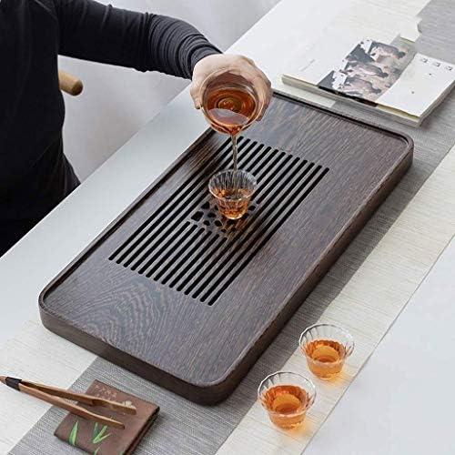 竹茶トレイ、Gongfu茶トレイ、引き出しタイプ家庭用ドレンティートレイ、中国のカンフーティーセット、茶道ツール、水のストレージ・タイプドライ、茶海茶道 (Color : B)