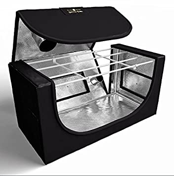 Mini Propagation Hydroponic Grow Tent - Easy Access With Zip Off Roof - PVC Free -  sc 1 st  Amazon UK & Mini Propagation Hydroponic Grow Tent - Easy Access With Zip Off ...