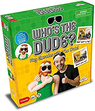 Amazon.com: Whos The Dude Charades Game – Usa el tamaño de ...