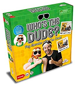 Who's The Dude Charades Game - Use the Life Size Inflatable Dude to Act Out up to 440 Hilarious Scenarios - Ages 16+