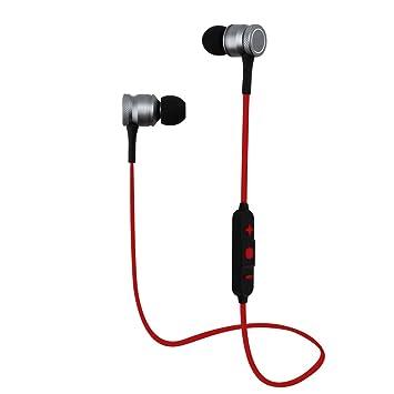 Yigenet Auriculares inalámbricos V4.0 Bluetooth auriculares Hifi estéreo auriculares magnéticos Sweatproof auriculares en el oído con micrófono incorporado ...