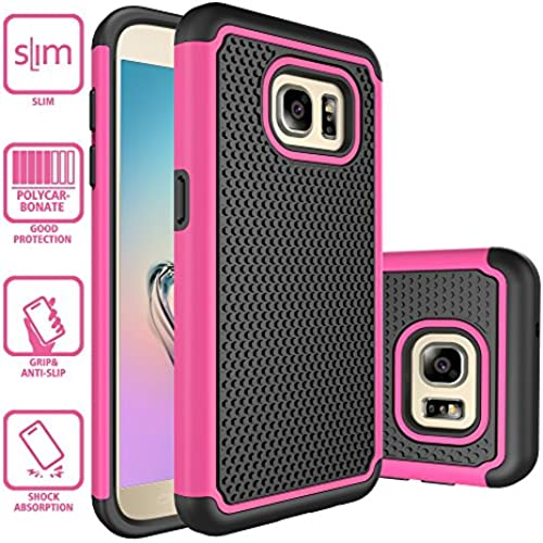 S7 Case, Galaxy S7 Case, Style4U Dual Layer Hybrid Armor Protective Case Cover for Samsung Galaxy S7 with 1 Style4U Stylus [Hot Pink] Sales