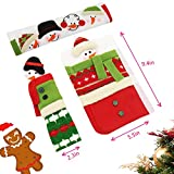 Yeahbeer Snowman Christmas Decorations - Kitchen Appliances Protector Fridge Oven Microwave Dishwasher Door Cloth Gloves - Set of 3 - With Free Gift Silverware Holder Pockets (#2 Large size)