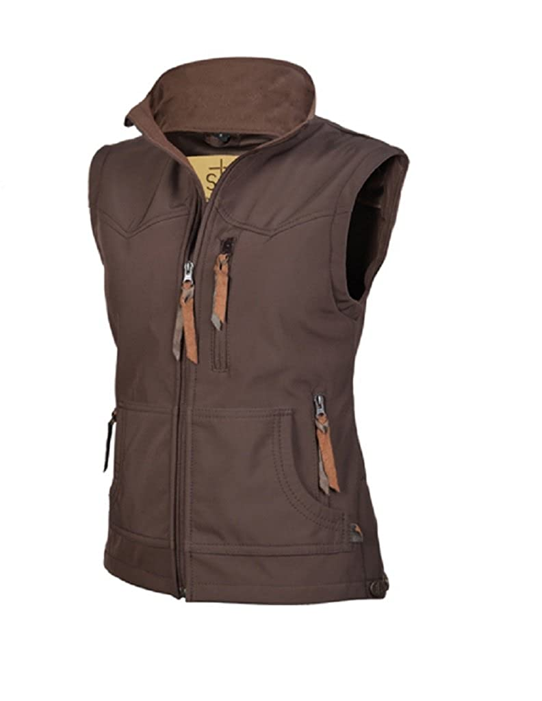 Sts Ranch Wear Womens Ladies STS Barrier Brown Vest STS3453