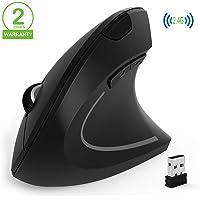 Ratón Ergonómico Inalámbrico,Ratón Vertical de Juego , Ordenador portátil USB, Ratón óptico con nanorreceptor, 3 Niveles…