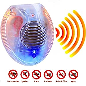 #1 Ultrasonic Pest Repeller Repels Away Rodents, Mice, Cockroaches, Ants and Spiders - Plug In Easy to Use - Best Pest Control Device for Indoor Use