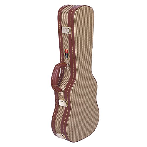 Crossrock CRW700CUTW Concert Ukulele Case Hard shell - Deluxe Tweed Wooden Case