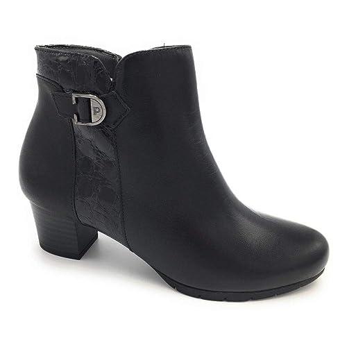 Pitillos 5268 botín tacón Medio Combinado Negro: Amazon.es: Zapatos y complementos