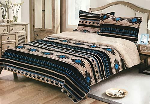 Nu Trendz Signature Southwest Design (Navajo Print) Queen Size 3pcs Set 17426 - Blanket Navajo