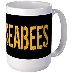 CafePress - U.S. Navy: Seabees (Black) Mugs - Coffee Mug, Large 15 oz. White Coffee Cup from CafePress