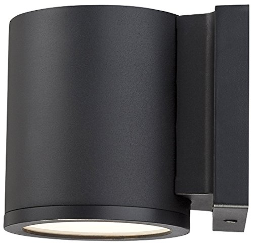 WAC Lighting WS-W2605-BK Tube LED Outdoor Wall Light Fixture, Dark Sky Friendly Single Light, 3000K, Black from WAC Lighting