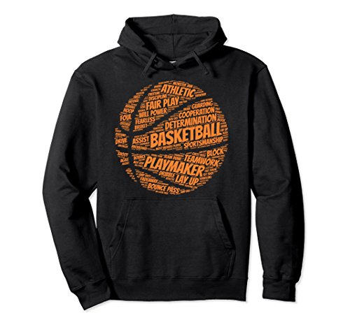 Basketball Hooded (Unisex Basketball hoodie gift for boys, girls, men and women Medium Black)