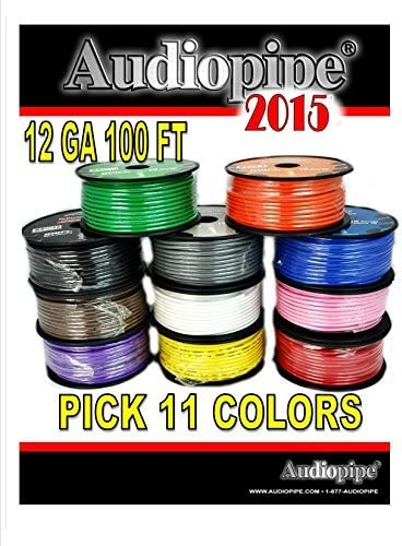 11 ROLLS 12 GA GAUGE 100 FT SPOOLS PRIMARY AUTO REMOTE POWER GROUND WIRE CABLE